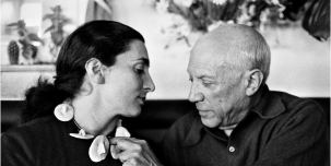 Jacqueline and Picasso. 2014 David Douglas Duncan. Estate of Picasso/Artists Rights Society (ARS), New York.