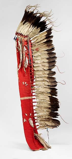 Lakota Eagle Feather Headdress, c. 1865