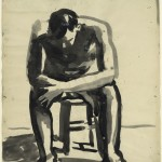David Park, Seated Man, c. 1955-59
