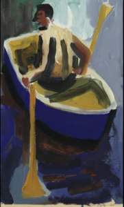 David Park, Man in a Rowboat, 1960 <br>Photo courtesy Hacket | Mill, San Francisco